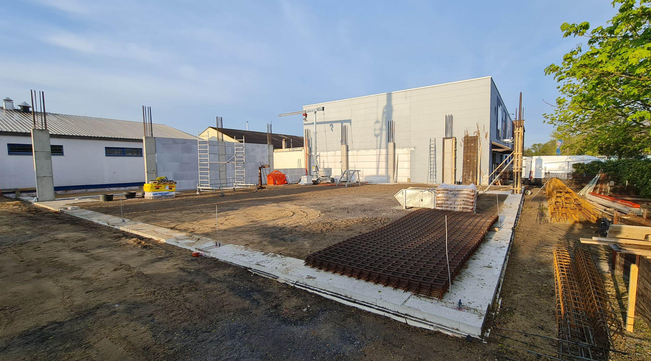 Bottrop - Bau der Halle